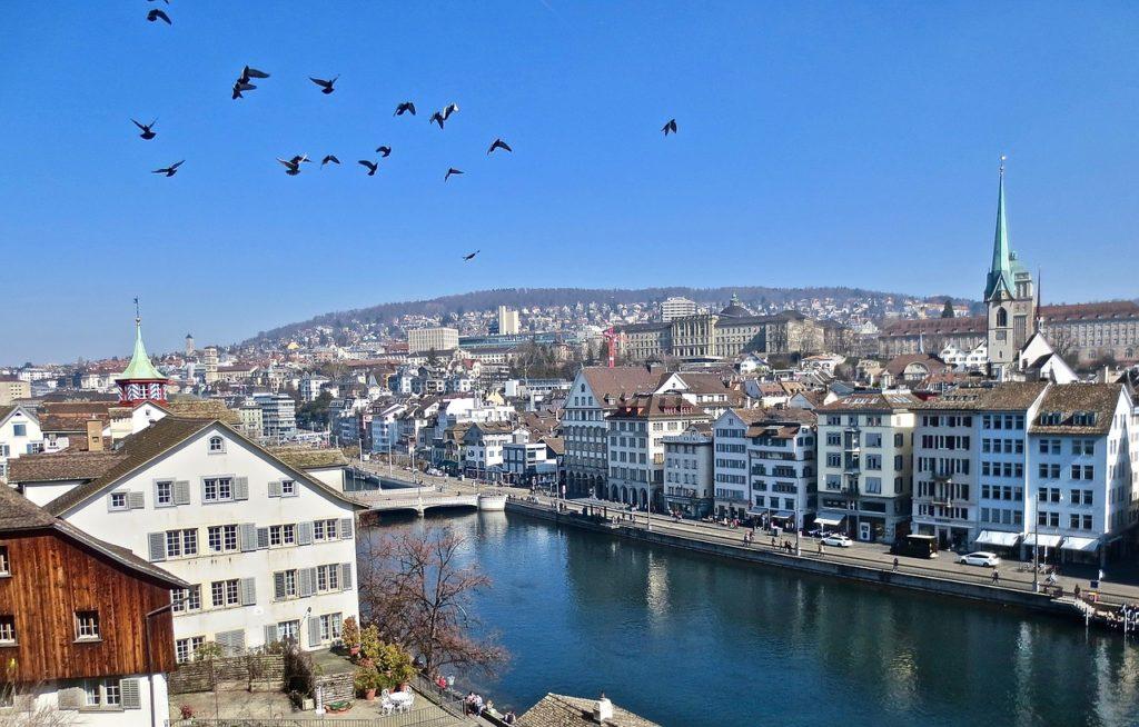 Church zurich chasing whereabouts Switzerland spring