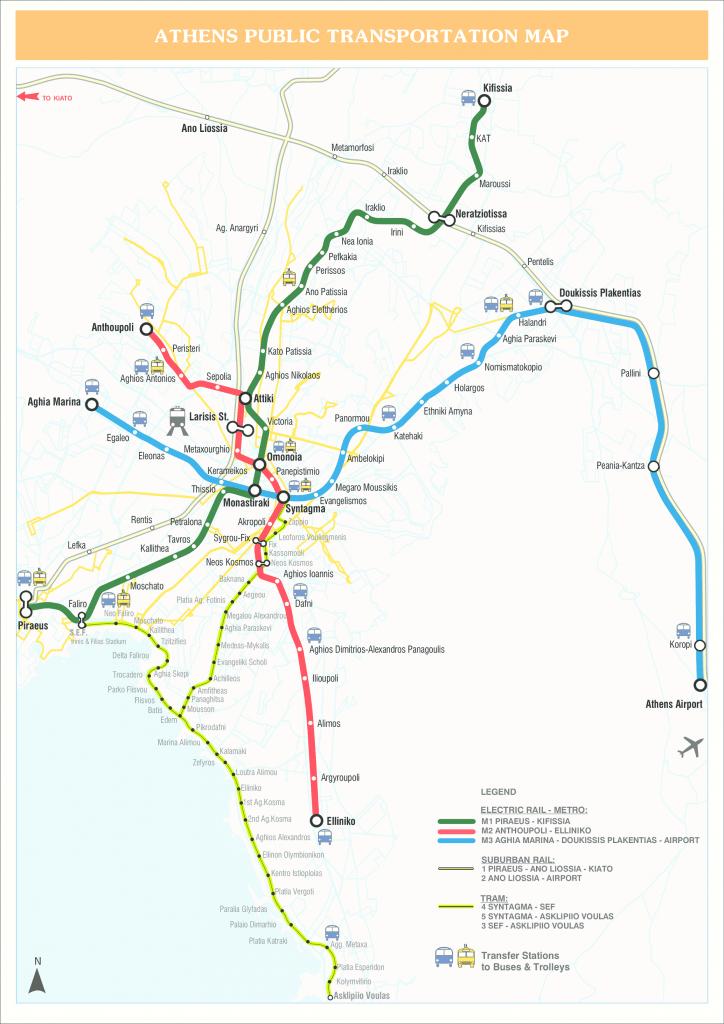 Athens Public Transport - Athens Metro Map