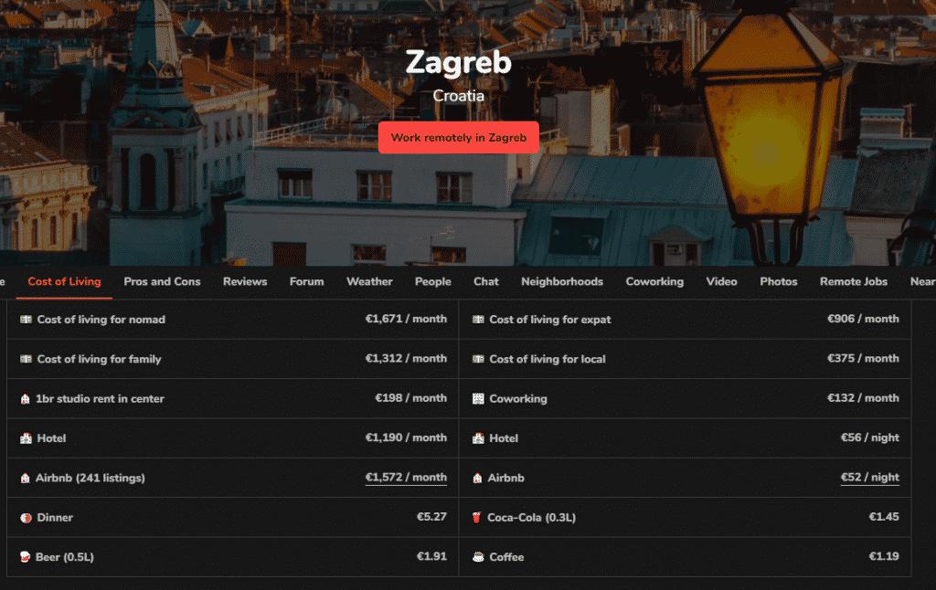 Cheapest European Places to Live in - Croatia, Zagreb