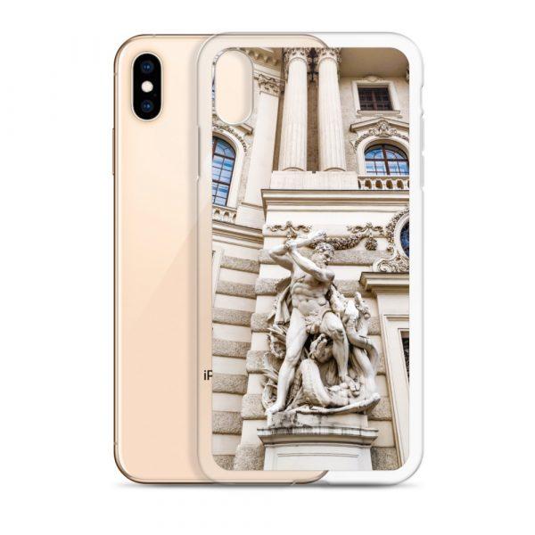 Vienna Statue - Liquid Glitter iPhone Case 8