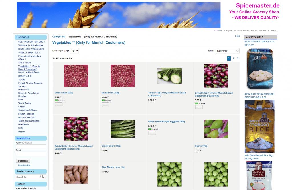 Fresh Indian Vegetables Online Germany